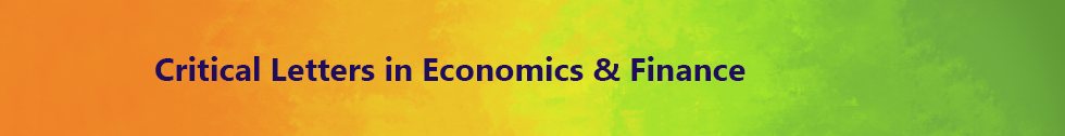 Critical Letters in Economics & Finance