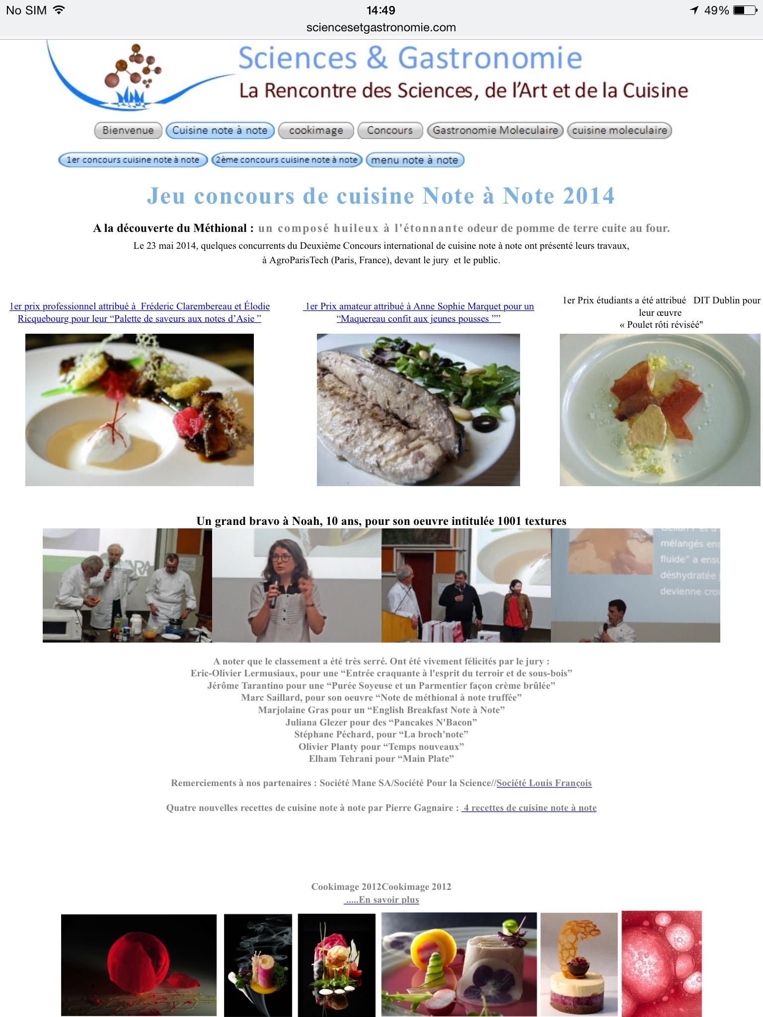 "i>concours de cuisine note à note 2014</i>""roisin burke"