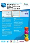 Manufacturing and Design Engineering Students : Database With MAIN