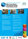 MSc Food Safety- Carmichael House, Food Safety Audit