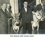 Ken Besson with Jersey Cows by Ken Besson