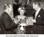 Ken and Delphine Besson with Jack Lynch
