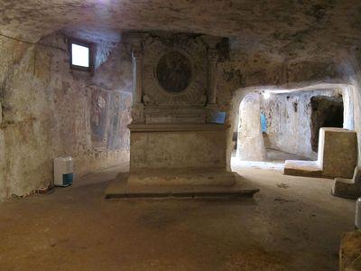 Crypt of the Beata Vergine di Coelimanna in Supersano, near Lecce in Italy