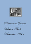 November, 1949: Jammet's Kitchen Book by Restaurant Jammet's