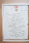 Luncheon Menu from R.M.S. Titanic April 14, 1912 by Titanic