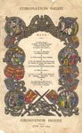 Grosvenor House, London, Coronation Menu, 1953