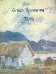 Ernie's Restaurant, Menu