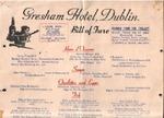 Gresham Hotel, Menu