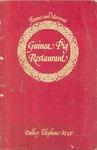 Guinea Pig Restaurant, Menu, c. 1979