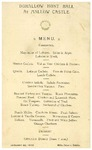 Mallow Castle, Duhallow Hunt Ball Menu, 20 January 1913 (with contemporary report from The Irish Times)