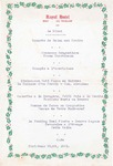 Royal Hotel, Bray, Menu, Christmas 1961
