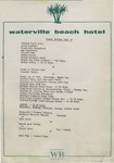 Waterville Beach Hotel, Dinner Menu, 25th October, 1981