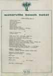 Waterville Beach Hotel, Dinner Menu, 25th October, 1981