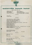 Waterville Beach Hotel, Dinner Menu, 23rd August, 1981