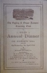 The Epping & Ongar Farmers' Coursing Club Sixth Annual Dinner at the Budworth Hall, Ongar on Wednesday, 9th. April, 1930
