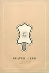 Beaver Club, Fall Winter Menu