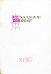 Blackboard Restaurant, Menu