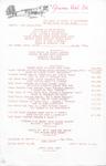 Glenview Hotel, Menu, 6th August 1981