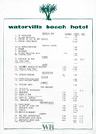 Waterville Beach Hotel, Wine Menu