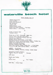 Waterville Beach Hotel, 25th October 1981, Dinner Menu