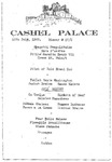 Cashel Palace Hotel Dinner Menu, 16th. of July, 1962