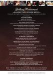 The Church Gallery Restaurant Handel's Set Dinner Menu