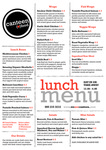 Canteen Love Food Lunch Menu 2017 by Canteen