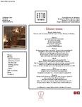 Etto Merrion Row Dinner Menu 2017 by Etto