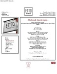 Etto Merrion Row Midweek Lunch Menu 2017 by Etto