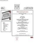 Etto Merrion Row Midweek Lunch Menu 2017