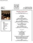 Etto Merrion Row Saturday Lunch 2017