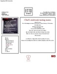 Etto Tasting Menu 2017 by Etto