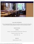 Richmond Restaurant Menu 2017
