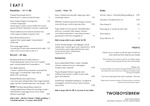Two Boys Brew Weekday Menu 2017