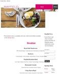 Mayfield Restaurant Breakfast Menu 2017