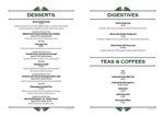 Pickle Restaurant Dessert and Drinks Menu 2017