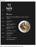 Taste at Rustic Menu 2017