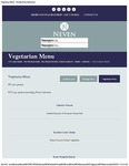 McNean House and Restaurant Vegetarian Menu