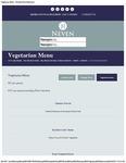 McNean House and Restaurant Vegetarian Menu