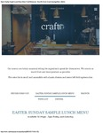 Craft Easter Sunday Sample Lunch Menu 2017 by Craft Restaurant