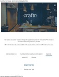Craft Restaurant Brunch Menu 2017