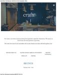 Craft Restaurant Brunch Menu 2017