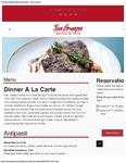 San Lorenzo A La Carte Dinner Menu 2017