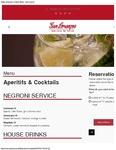 San Lorenzo Cocktail Menu 2017