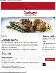 San Lorenzo Group Dinner Set Menu 2017