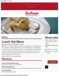 San Lorenzo Lunch Set Menu 2017
