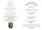 Rozzers Restaurant : Dinner Menu