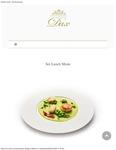 Dax Restaurant Menu 2020