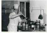 Jackie Needham at Work in the Kitchen of the Russell Hotel: Photograph by Jackie Needham