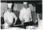 Jackie Needham with a Member of Kitchen Staff in the Kitchen of the Russell Hotel: Photograph